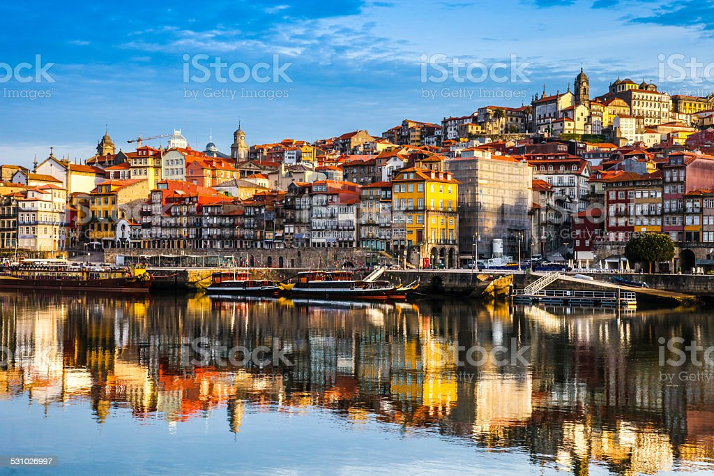 Oporto Ribeira stock photo