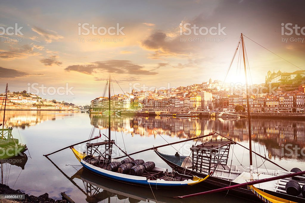 Oporto view from the the Douro river stock photo