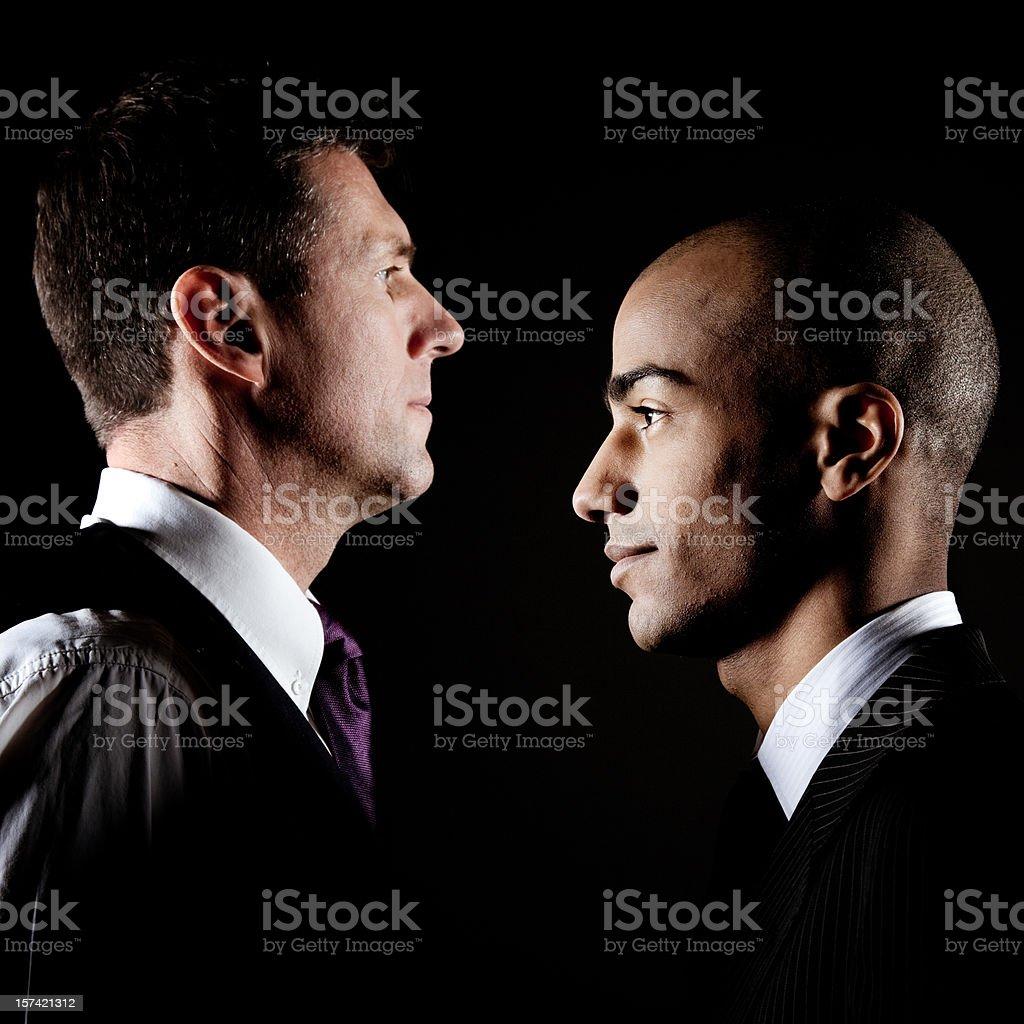 Opponents stock photo