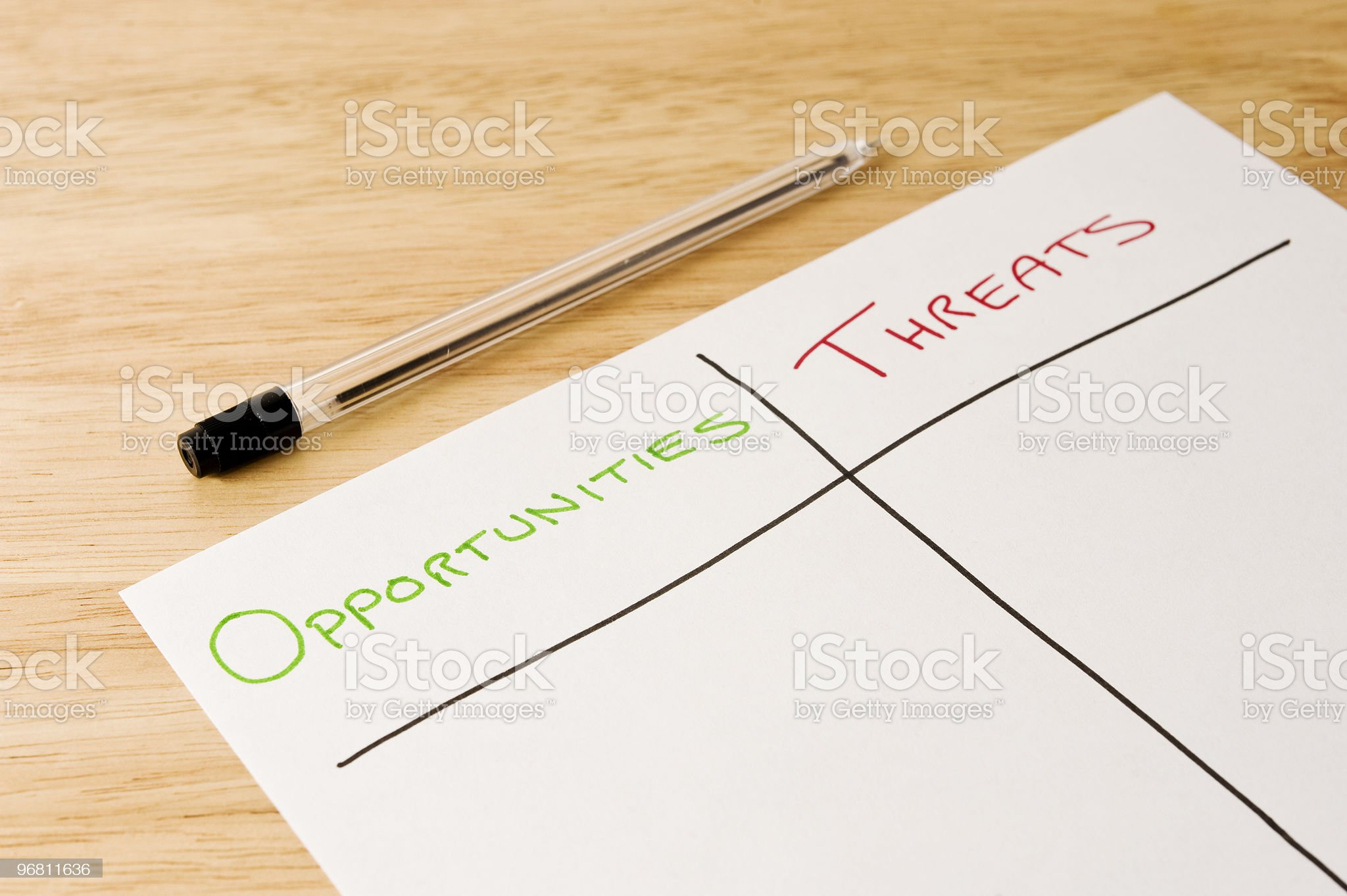 Opportunities and Threats royalty-free stock photo