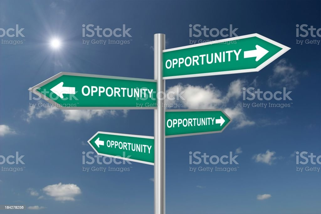 Opportunities Crossroad royalty-free stock photo