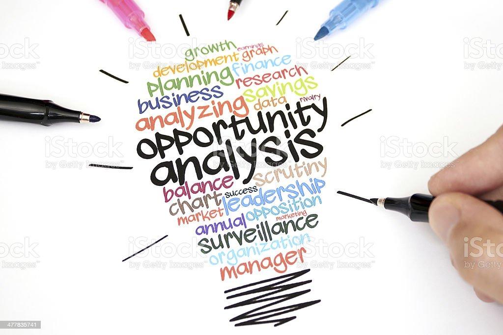 Opportunity Analysis royalty-free stock photo