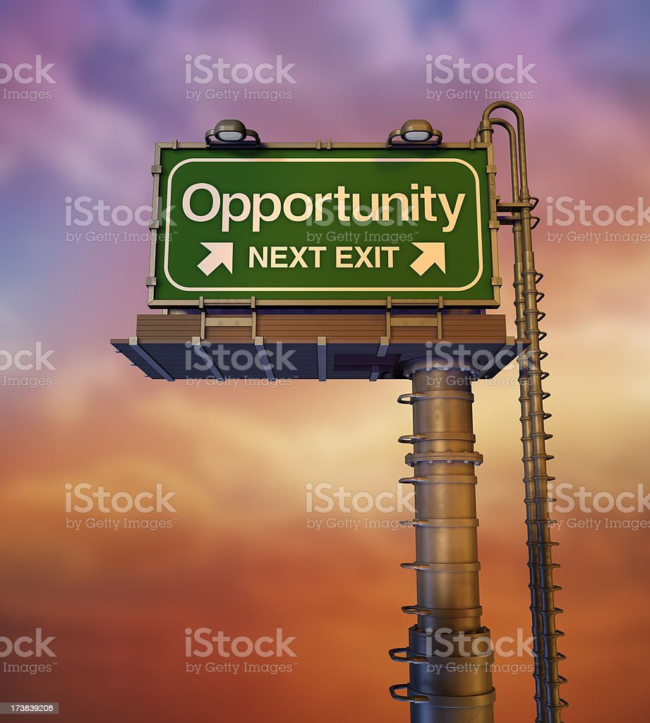 Opportunity Billboard (3D) royalty-free stock photo