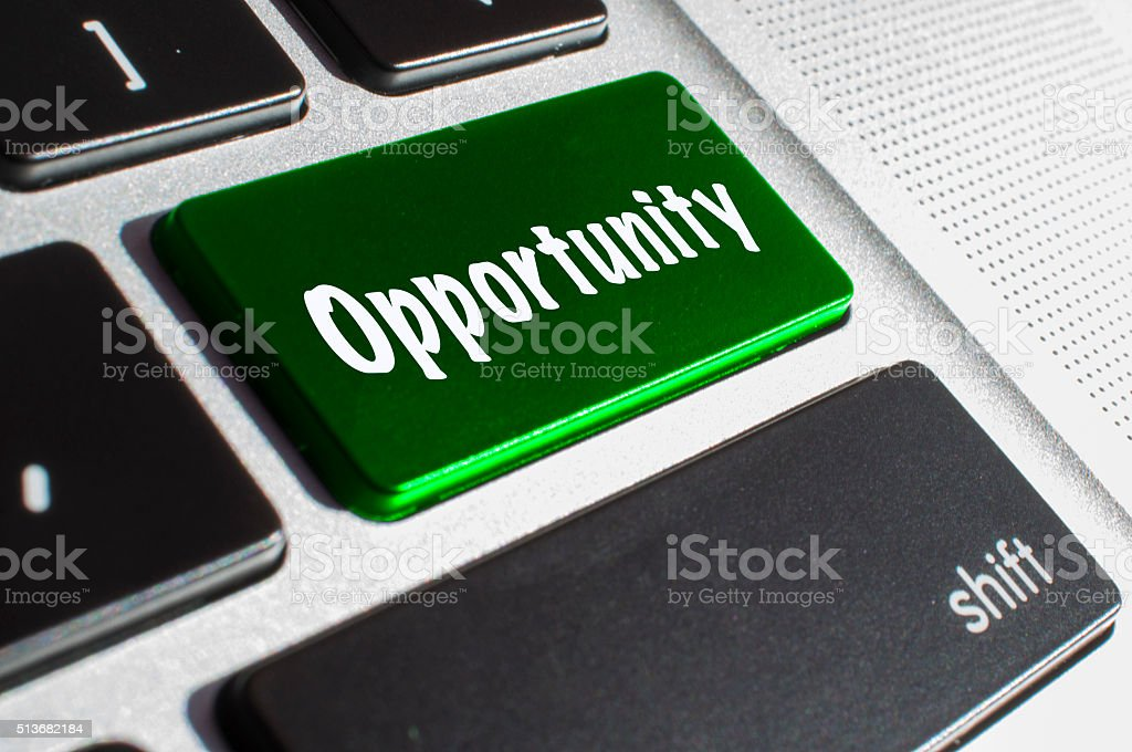 Opportunity keyboard stock photo