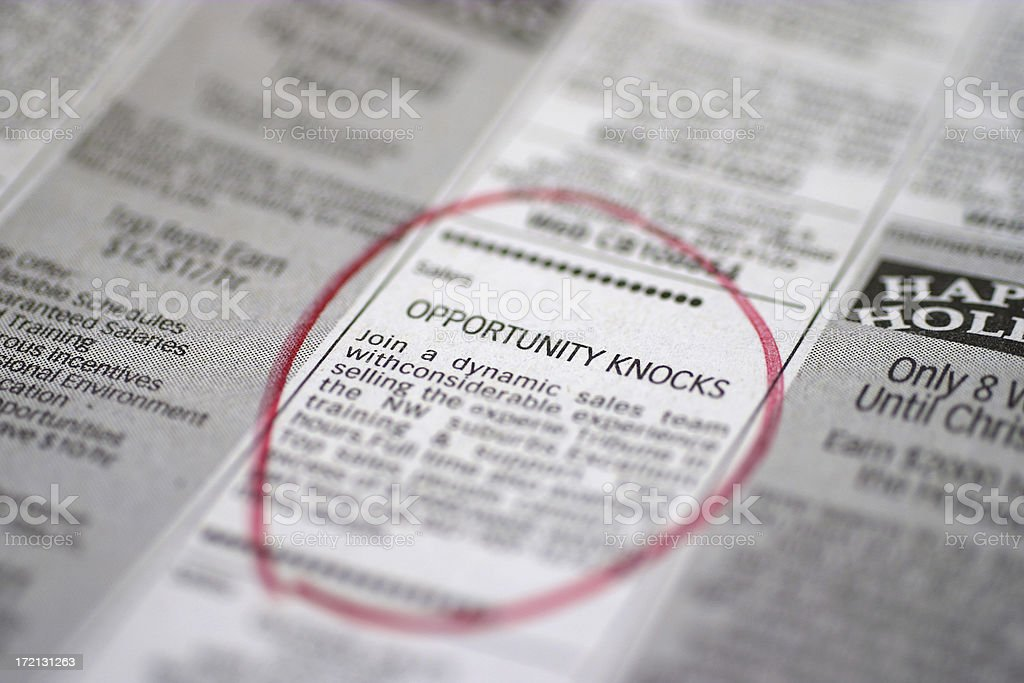 Opportunity Knocks stock photo