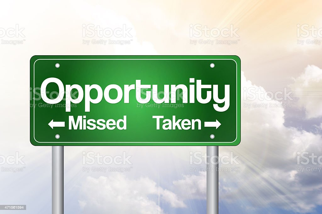 Opportunity Missed and Taken stock photo