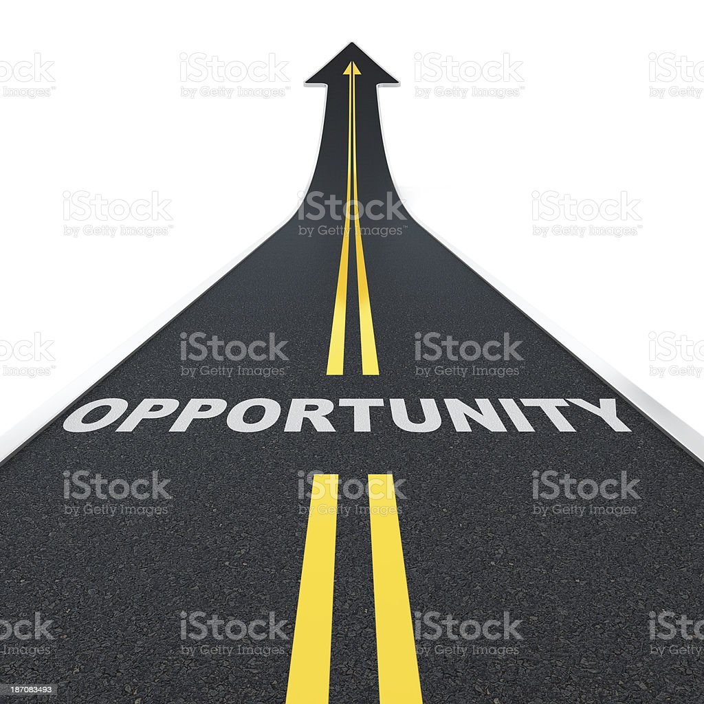 Opportunity road stock photo