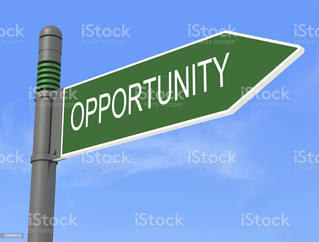 Opportunity road signpost royalty-free stock photo