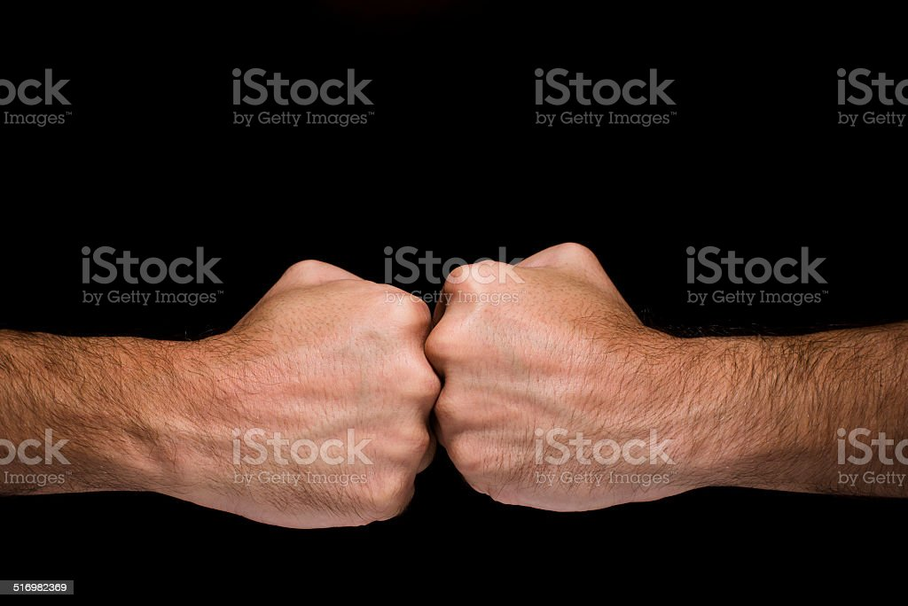 Opposed punches stock photo