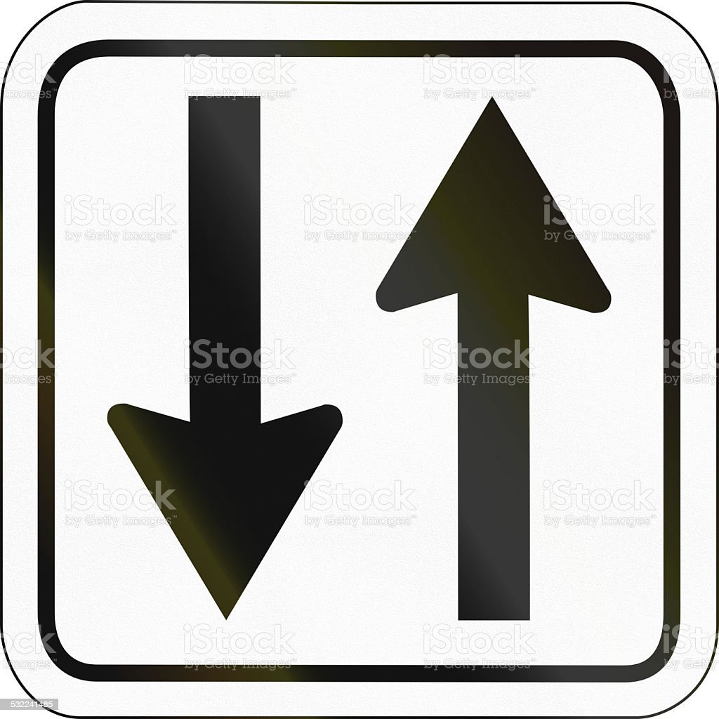 Opposing Arrows stock photo