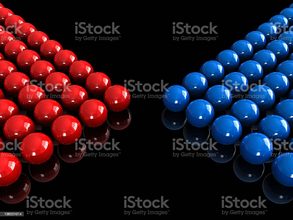 Opposing forces stock photo