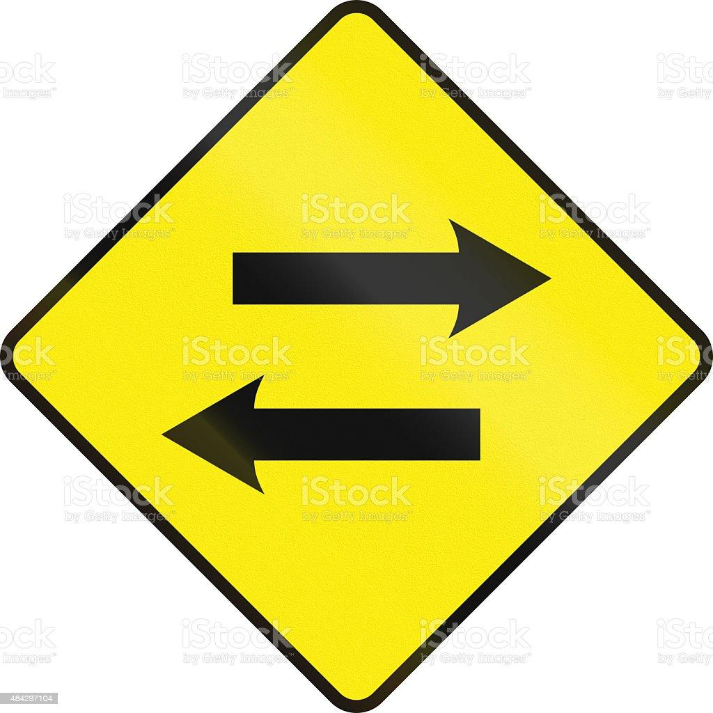 Opposing Traffic Ahead In Ireland stock photo