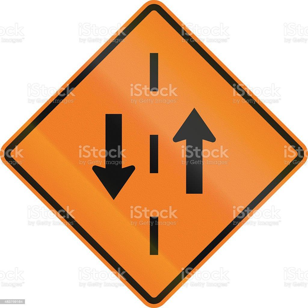 Opposing Traffic In Canada stock photo