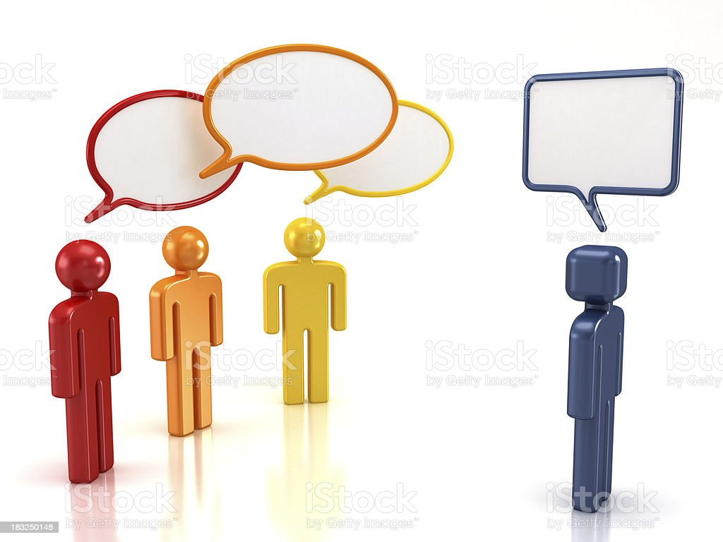 Opposing views royalty-free stock photo