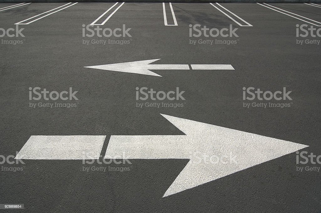 Opposite Arrows 1 royalty-free stock photo