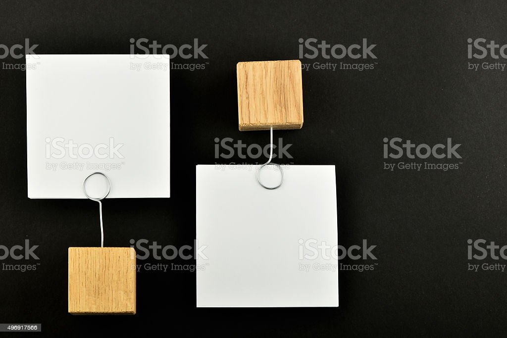 Opposite Opinion, Two paper notes on black background for presen royalty-free stock photo