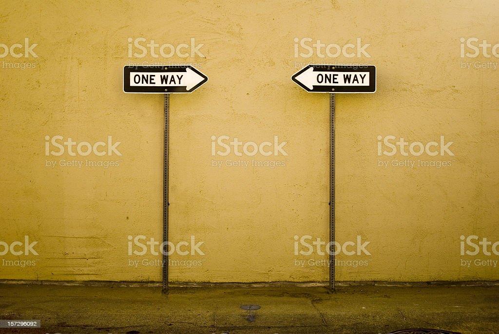 Opposite ways stock photo
