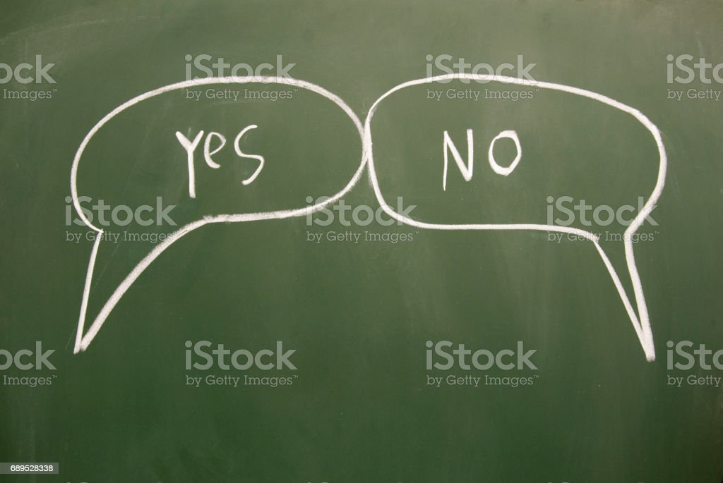 Opposition chats write on the blackboard stock photo