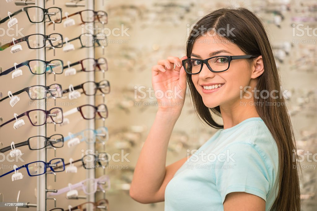 Oprician store stock photo