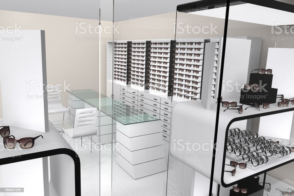 Optical and watch store stock photo