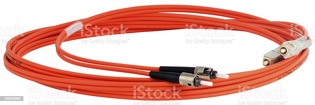 Optical data cable royalty-free stock photo
