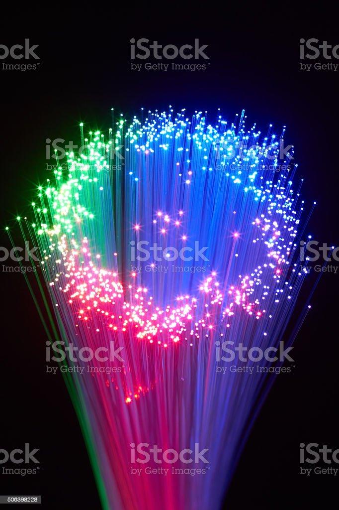 optical fiber stock photo