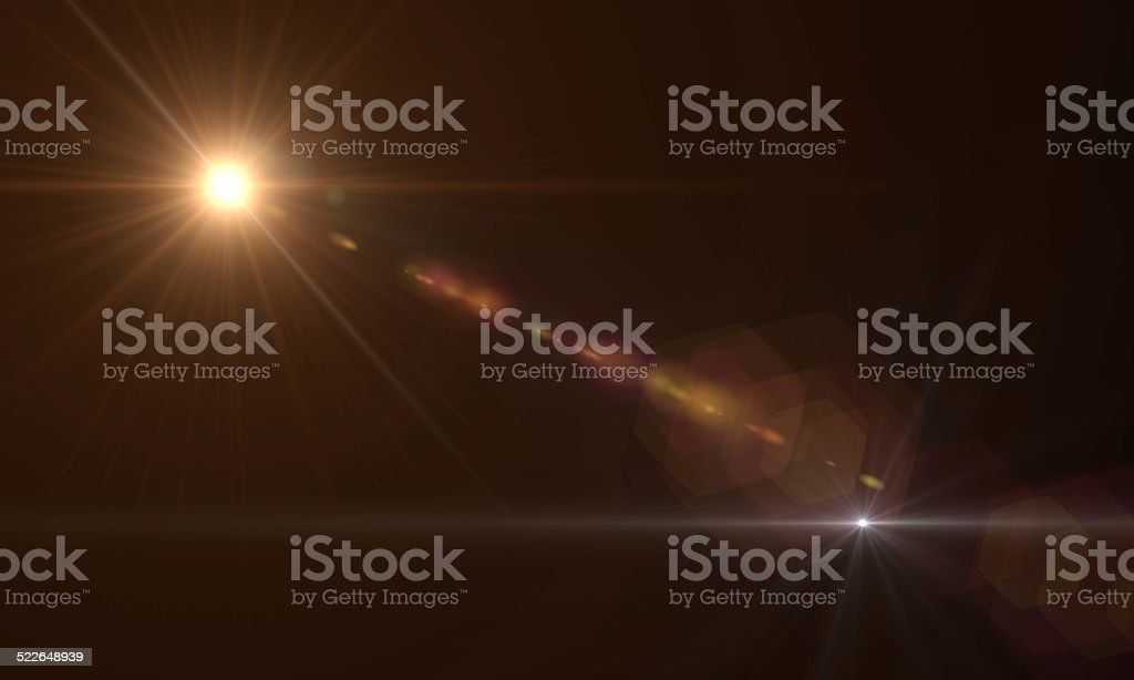optical  flares stock photo