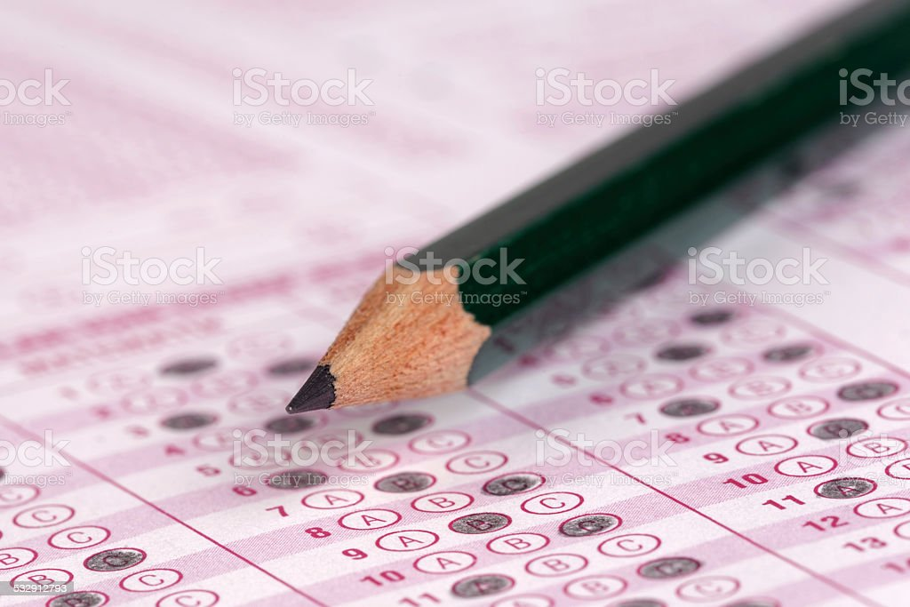 optical form of an examination stock photo