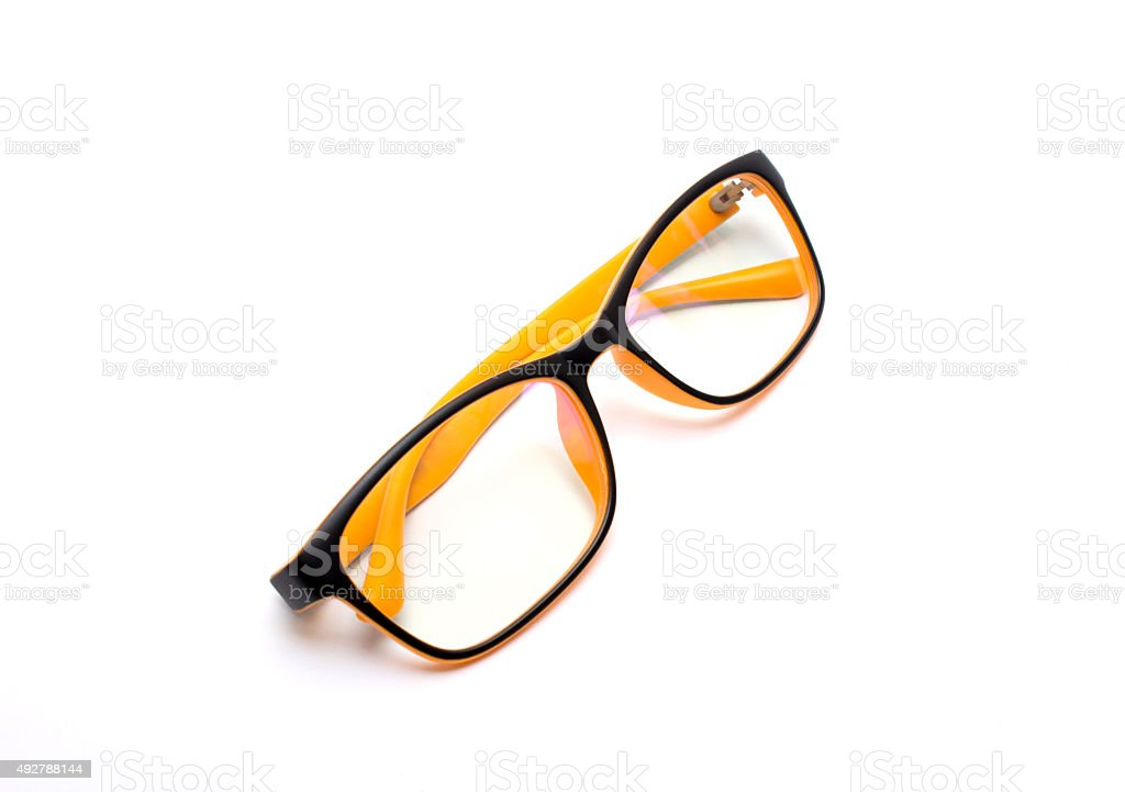 optical glasses stock photo