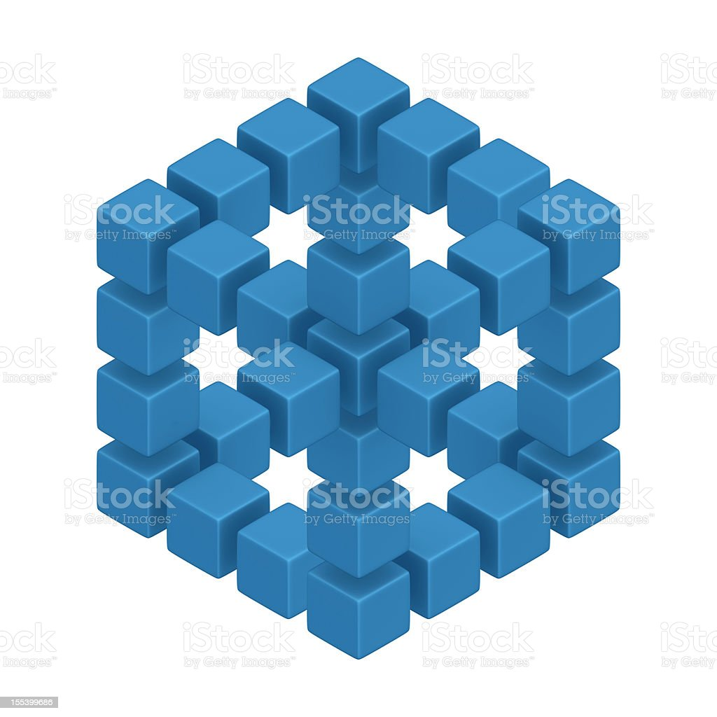 Optical Illusion Cube royalty-free stock photo