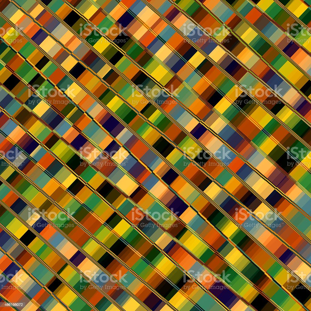 Optical Illusion Mosaic. Parallel Lines. Abstract Geometric Background Pattern. Stripes. stock photo