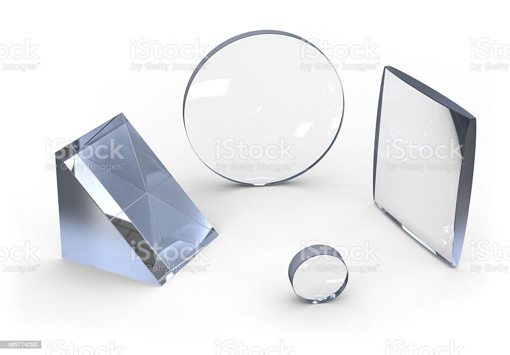Optical lenses stock photo