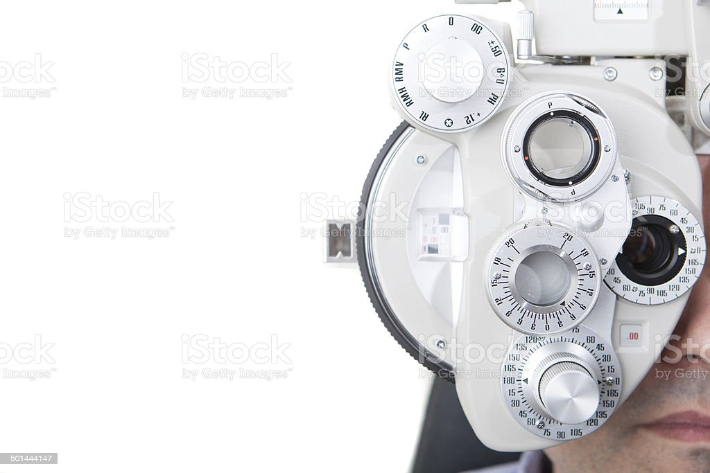 optical phoropter stock photo