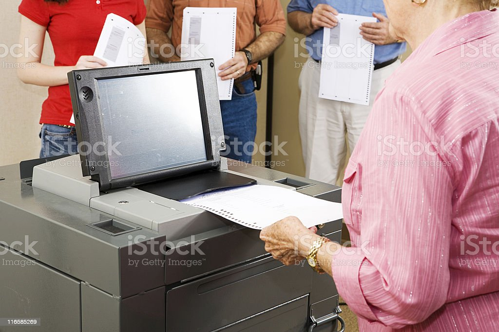Optical Scanner Voting stock photo