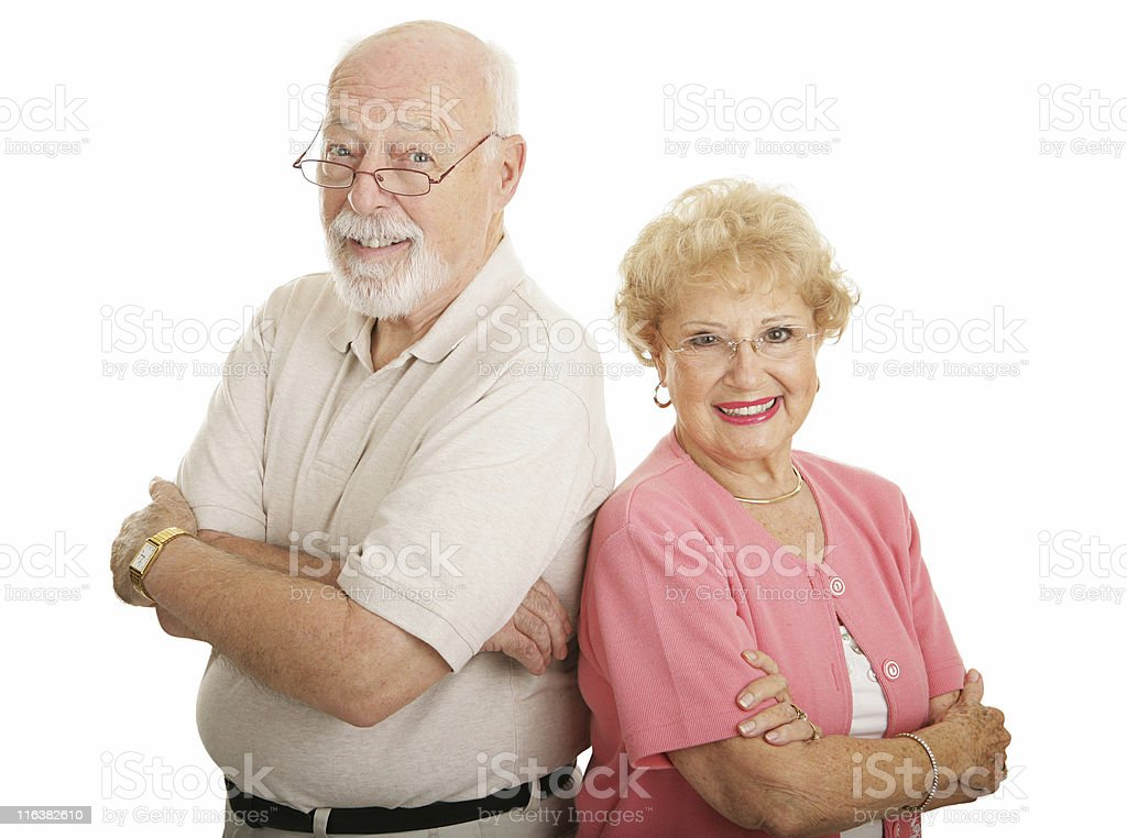Optical Series - Attractive Seniors royalty-free stock photo