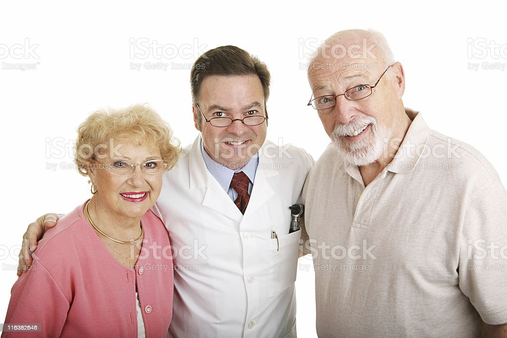 Optical Series - Couple & Optometrist royalty-free stock photo