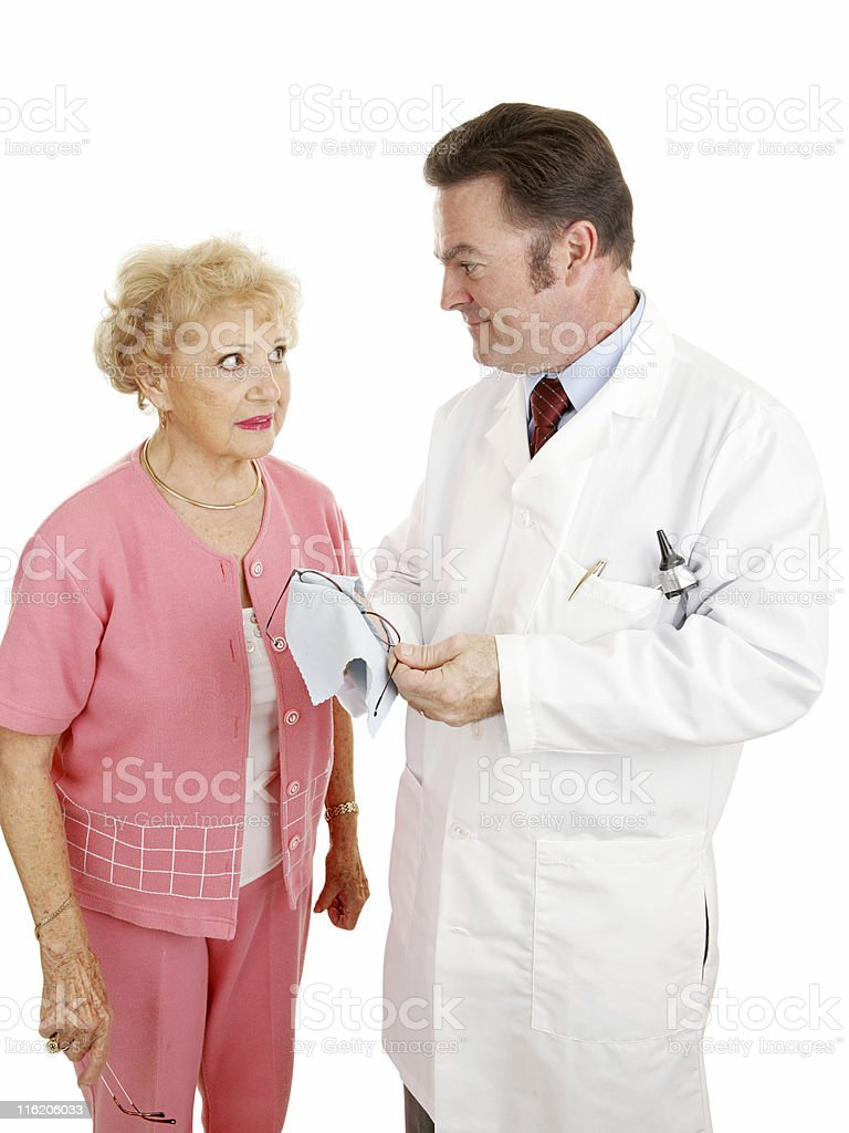 Optical Series - With Optometrist royalty-free stock photo