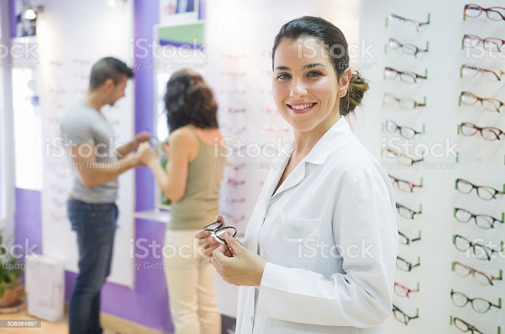 Optical store stock photo