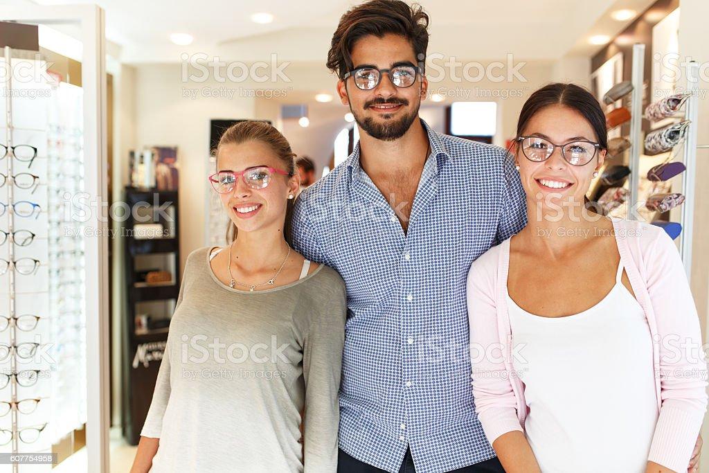 Optician store. stock photo