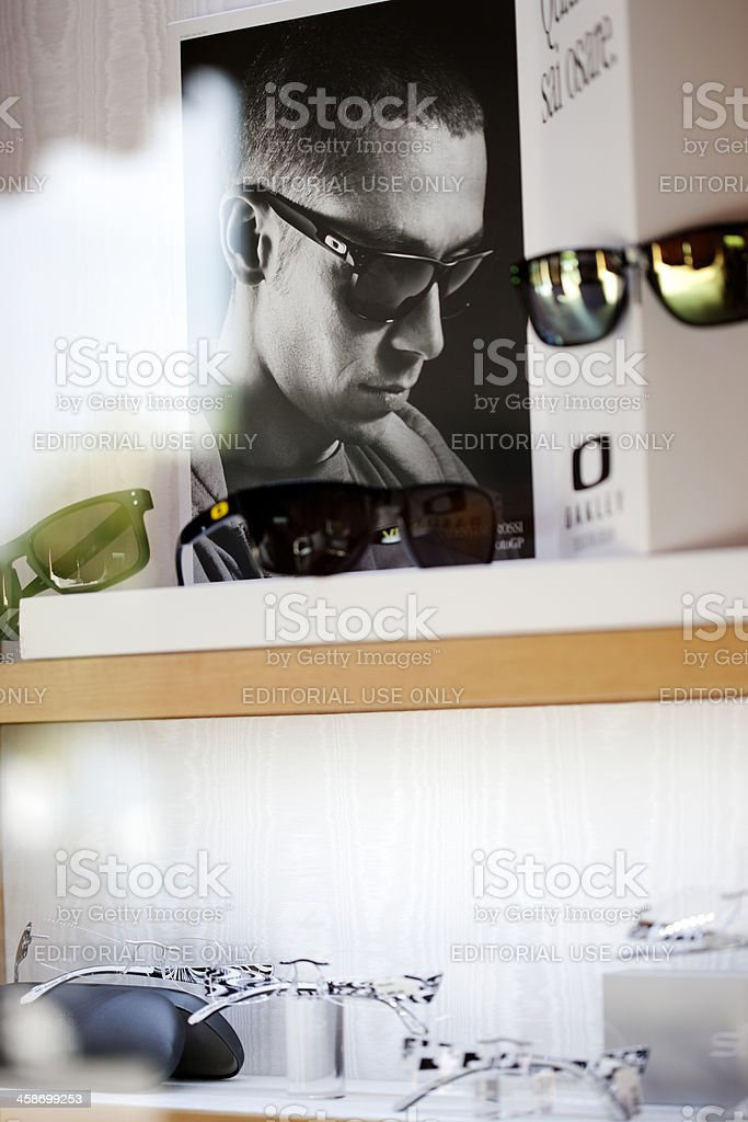 Optician's window display stock photo
