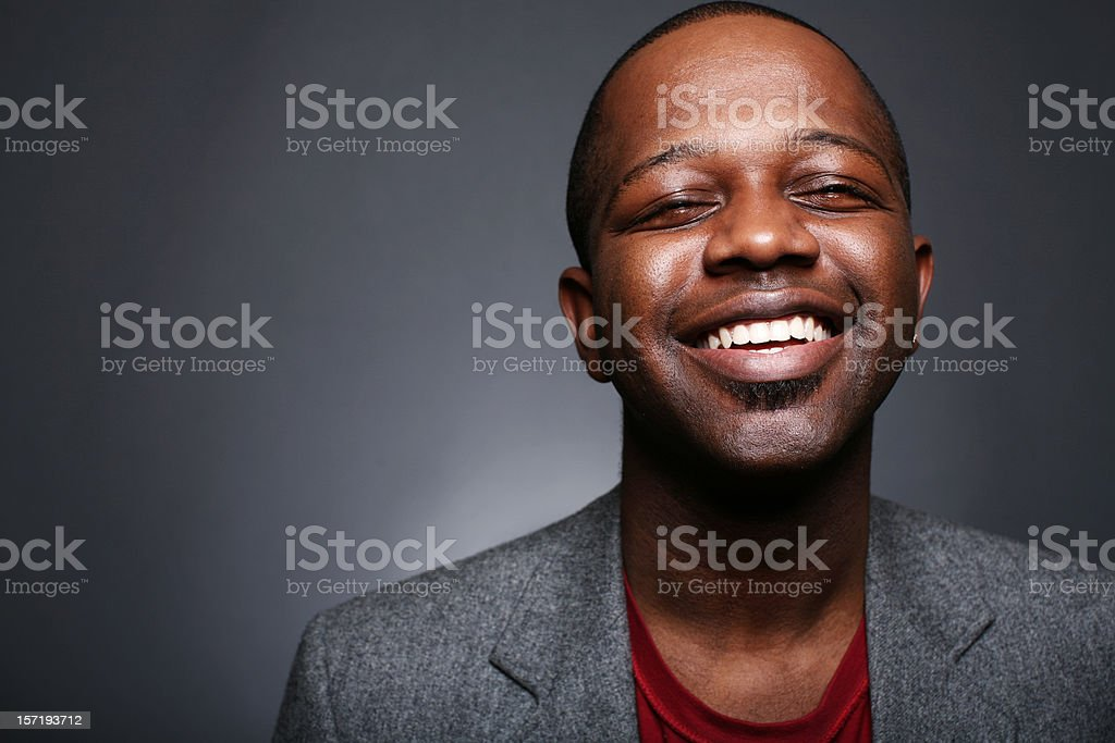 Optimistic Black Male in Suit royalty-free stock photo