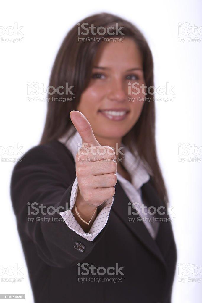 Optimistic businesswoman royalty-free stock photo