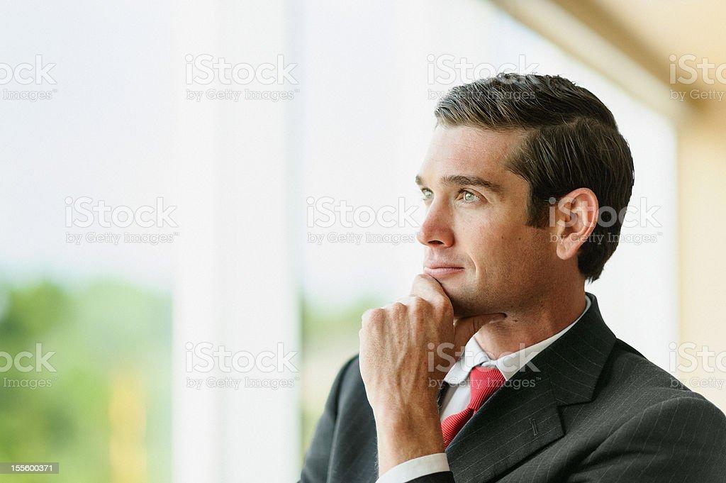 Optimistic Corporate Businessman Portrait royalty-free stock photo