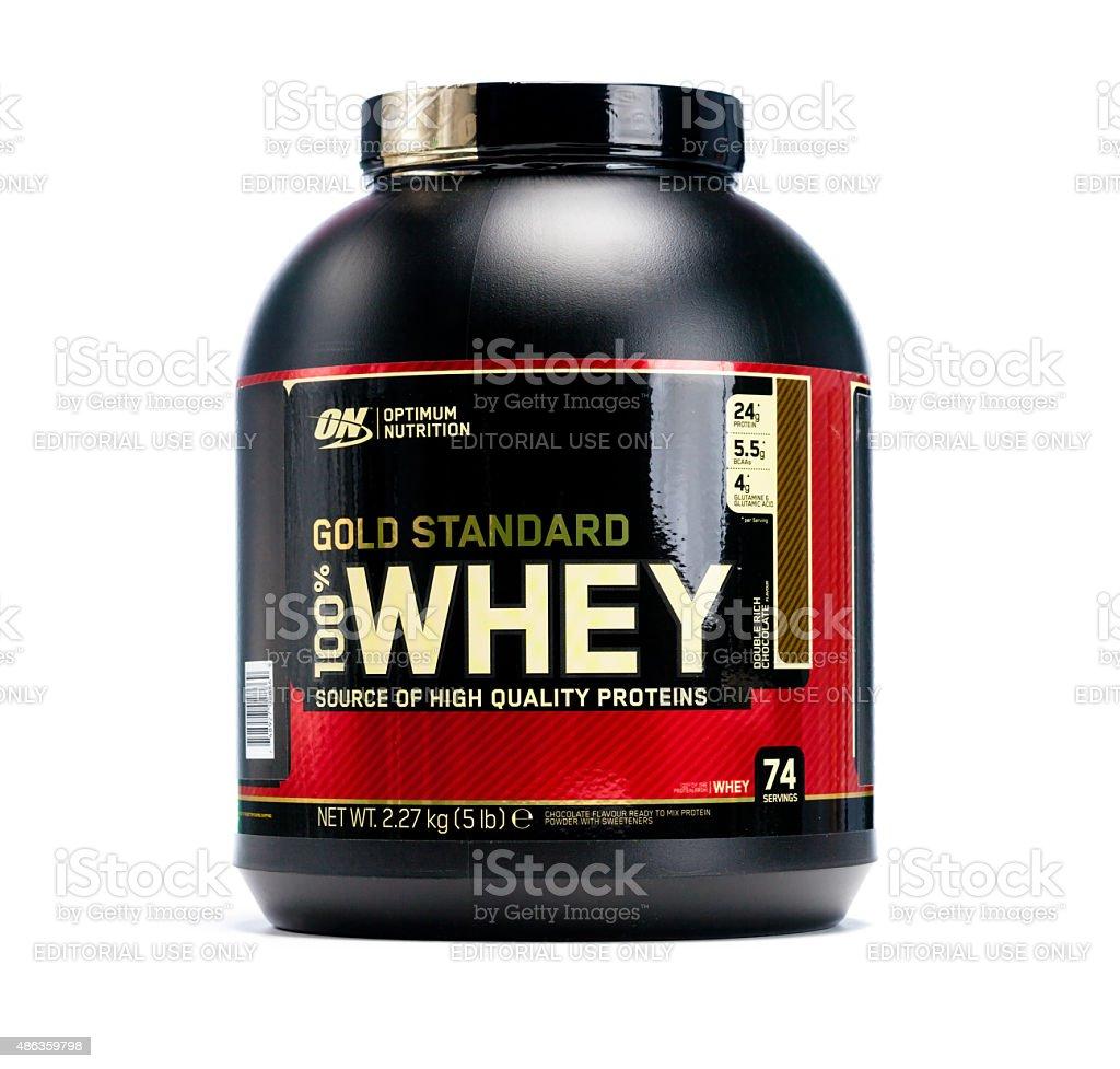 Optimum Nutrition Gold Standard Whey stock photo