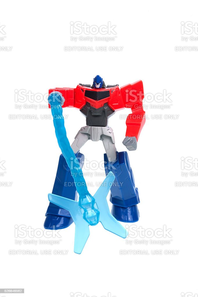 Optimus Prime 2015 Happy Meal Toy stock photo