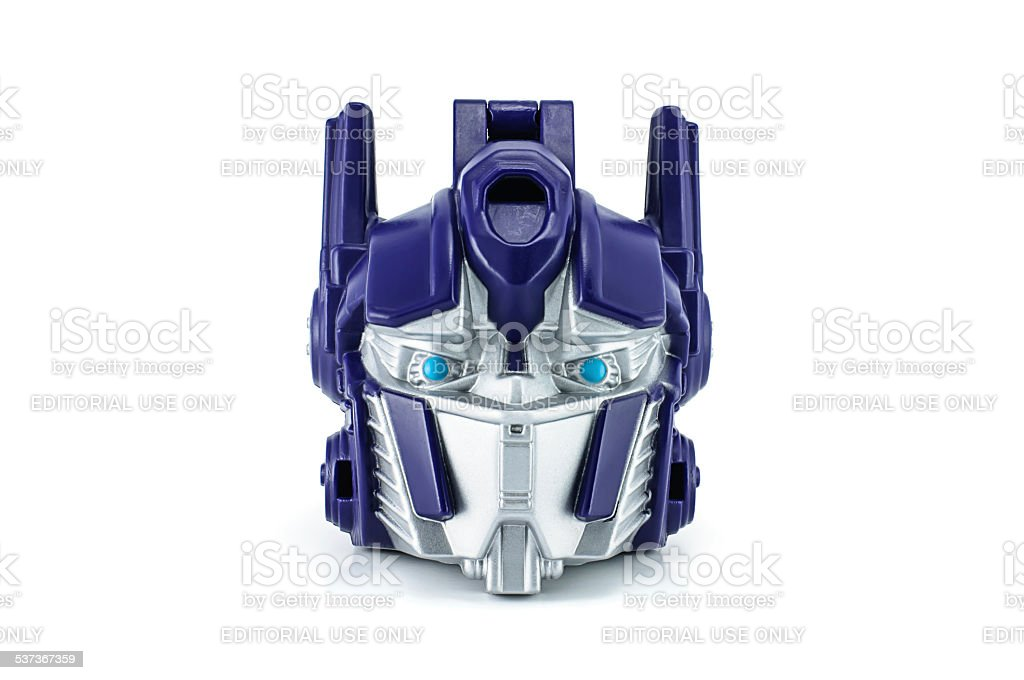 Optimus Prime toy character from TRANSFORMERS Movie. stock photo