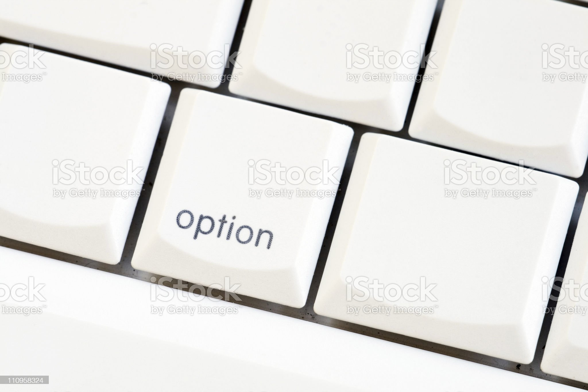Option key royalty-free stock photo