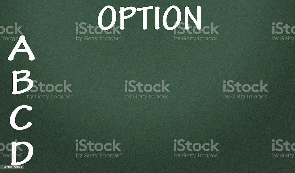 option list stock photo