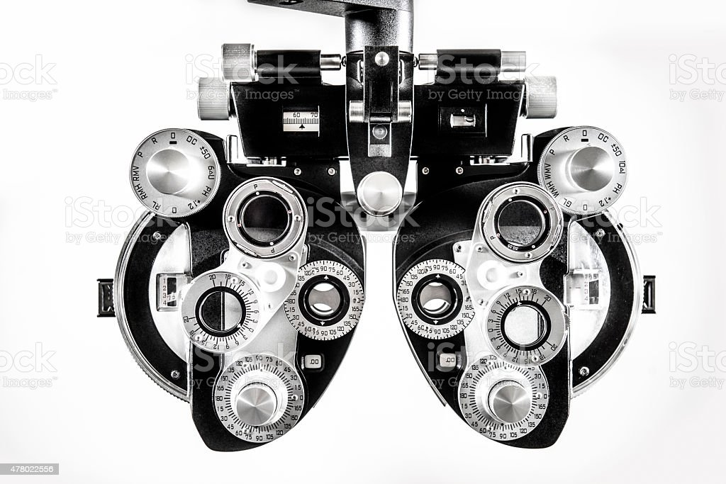 Optomestrist Phoropter stock photo