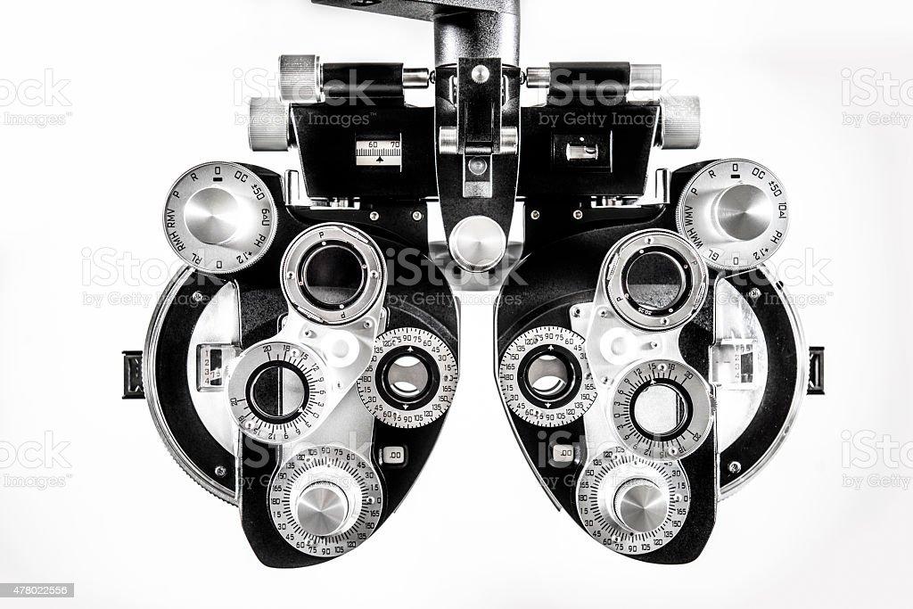 Optomestrist Phoropter stock photo